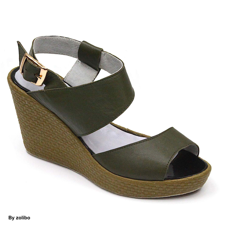 Sandale Vert De Compensée Femme ZoliboZoliboChaussures By qVGUzLMpS