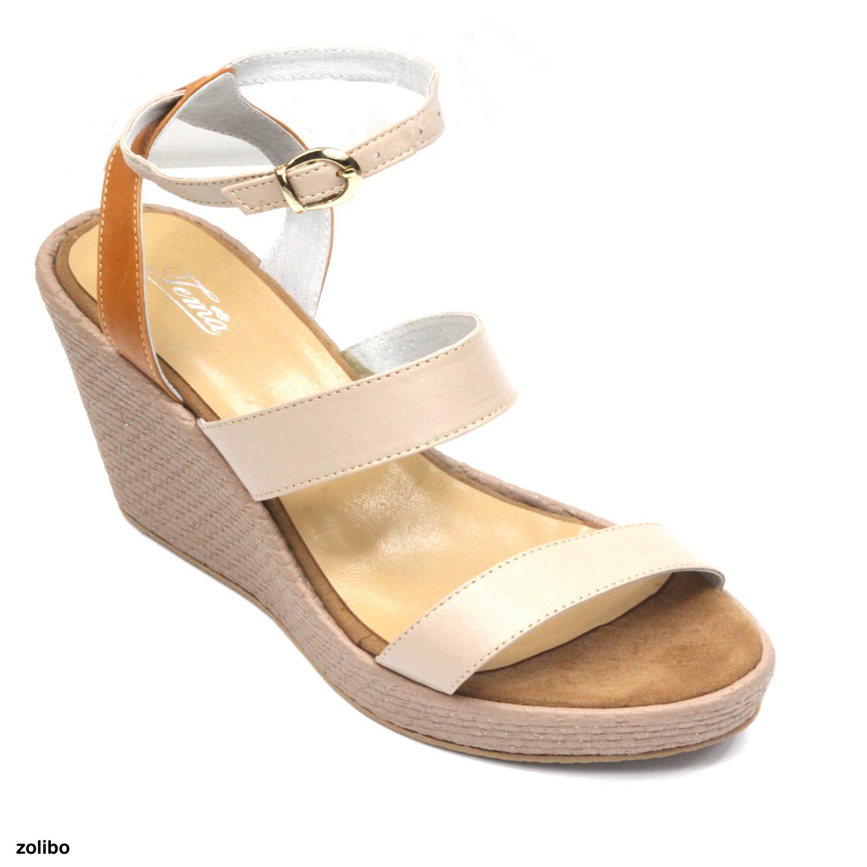 7a1b3987a479b Sandales femme compensées cuir   Zolibo  Chaussures de Marque pas ...